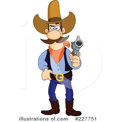 Cowboy clipart fighting Illustration (RF) #227751 Free by