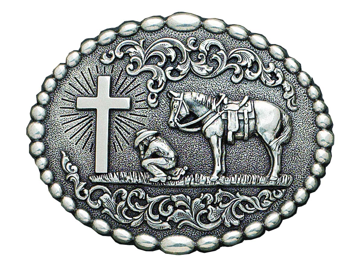 Cowboy clipart belt buckles Horse Buckles Praying Cross buckle