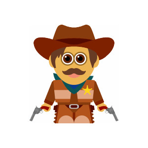 Cowboy clipart body Boot clipart cowgirl Sheriff cowboy