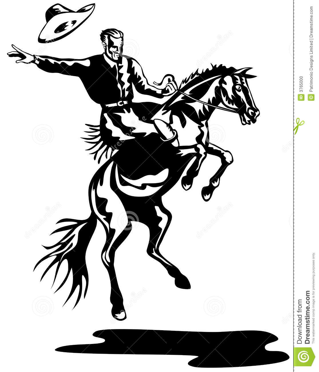 Cowboy clipart bronc riding Riding Bronco Bronc collection A