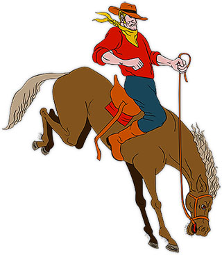 Cowboy clipart bronc riding A Images riding Free Cowboys