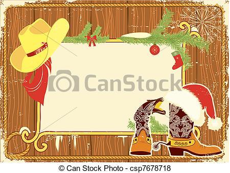 Cowboy clipart christmas cowboy Clipart Christmas Cowboy Border