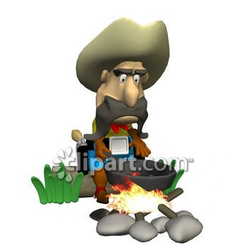 Cowboy clipart cooking 3 cooking com/search/close camping com