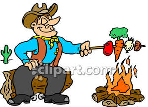 Cowboy clipart cooking Cowboy Cooking Royalty Vegetables Cowboy