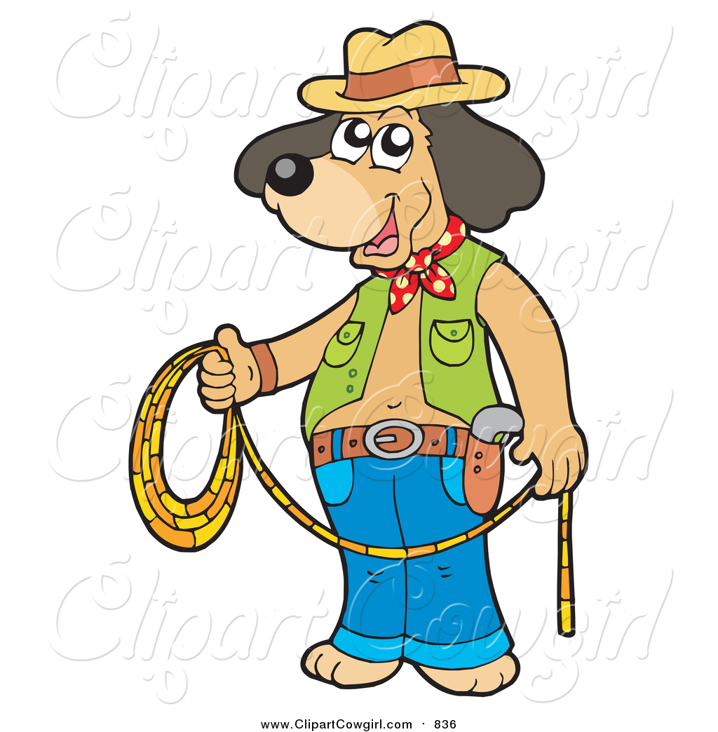 Cowboy clipart dog Dog Holding Lasso of #836