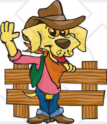 Cowboy clipart dog A Illustration Lab of Royalty