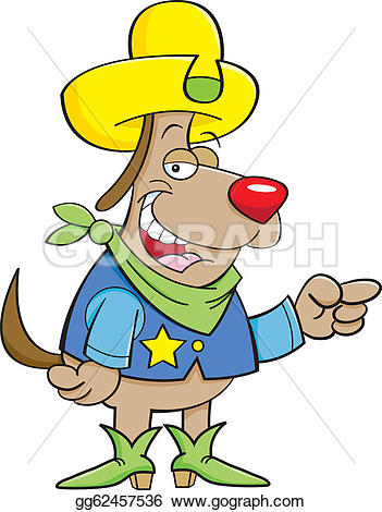 Cowboy clipart dog Drawing Drawing a Art a