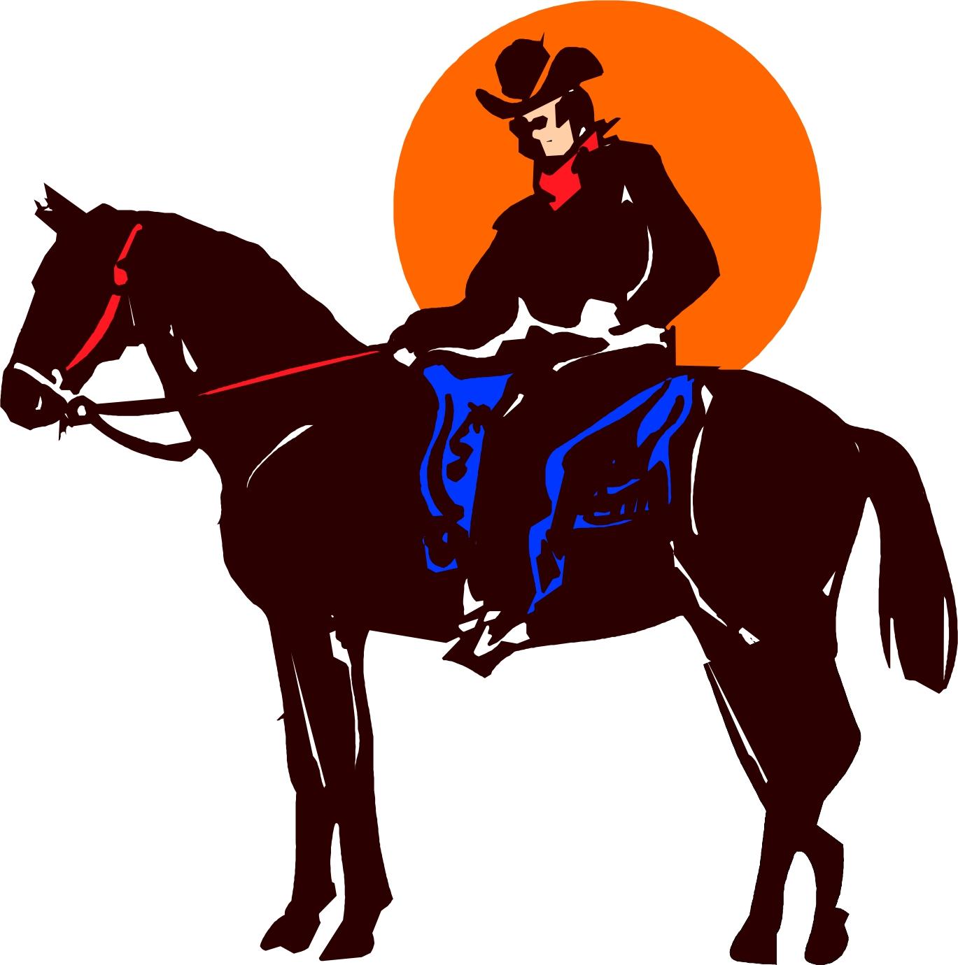 Cowboy clipart horse cartoon  Cartoon cowboy cowboy Western