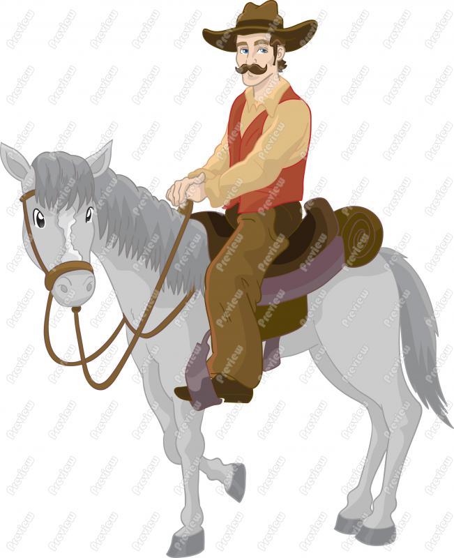 Cowboy clipart horse cartoon Horse Art Art Cowboy Clip