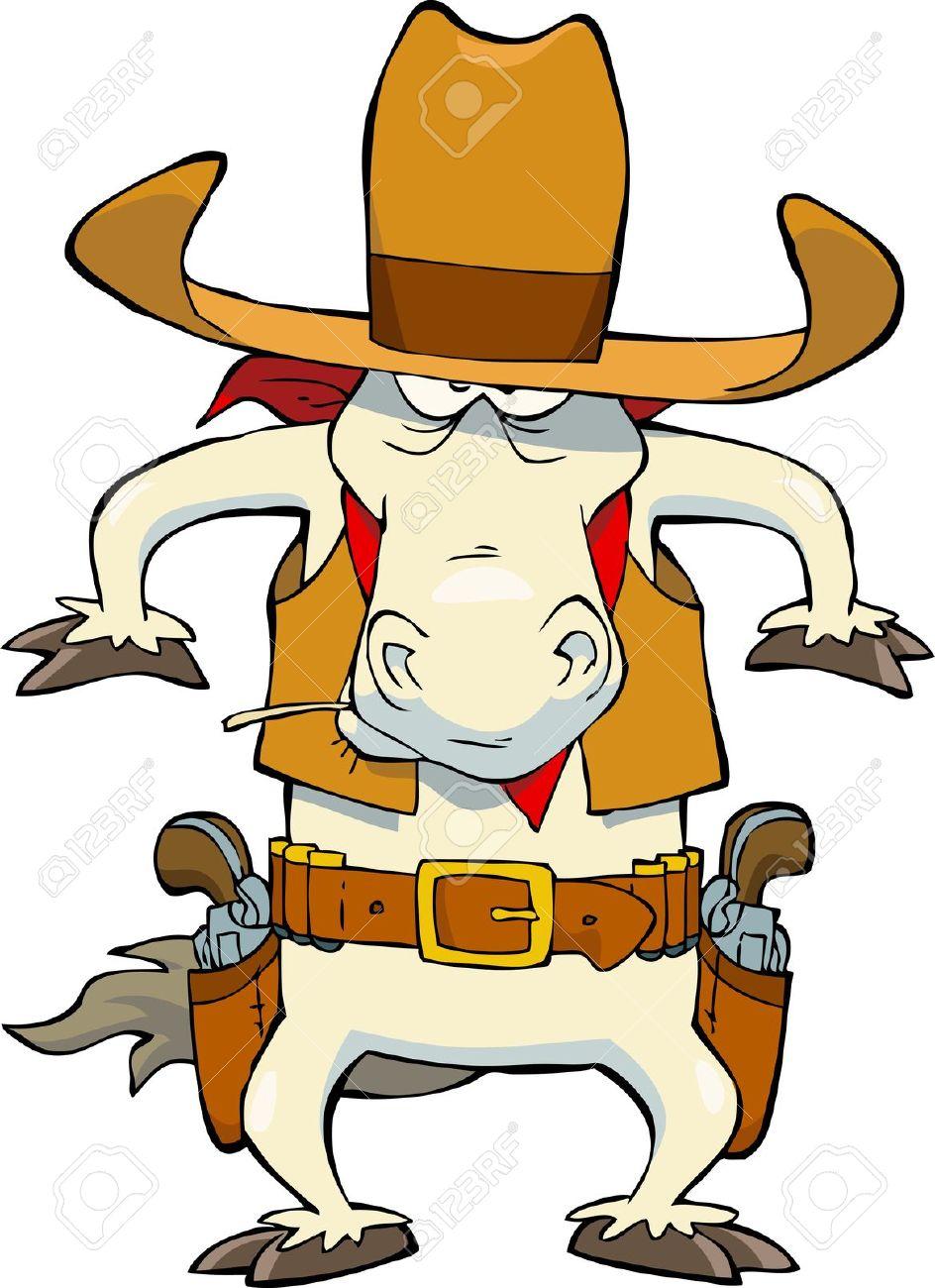 Cowboy clipart horse cartoon Clipart  horse cowboy Western