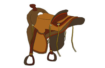 Saddle clipart horse saddle #1