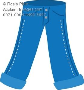 Cowboy clipart pants Illustration Jeans of Illustration Jeans