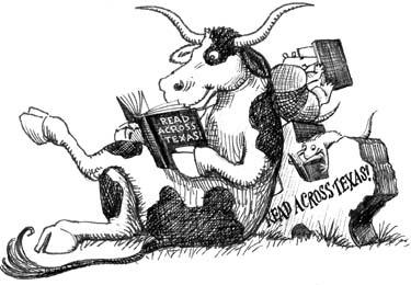 Cowboy clipart reading Clip TSLAC Texas Art Texas!