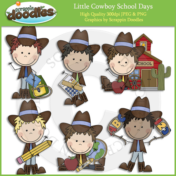 Cowboy clipart school Little And art Cowboy Cowgirl
