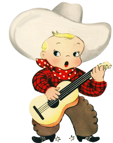 Cowboy clipart vintage child  (396×500) png Illustrated Pinterest