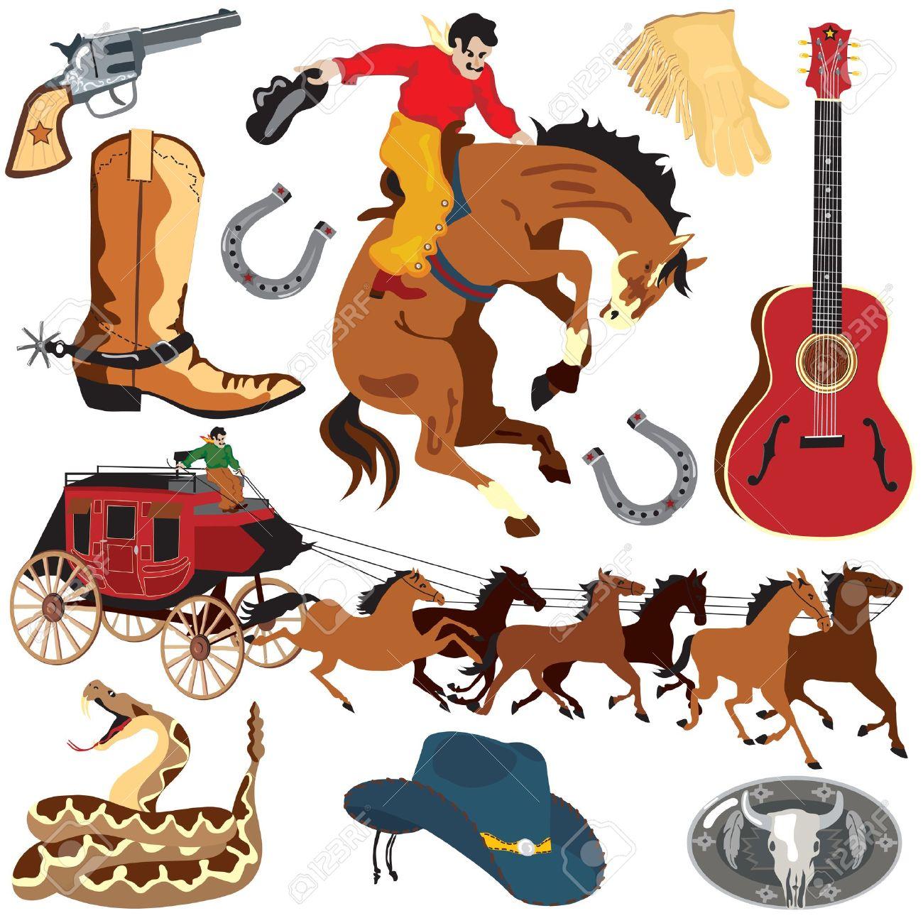 Cowboy clipart vintage cowboy Art art clip Vintage Clip