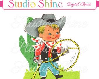 Cowboy clipart vintage cowboy Digital Etsy Download clipart cowboy