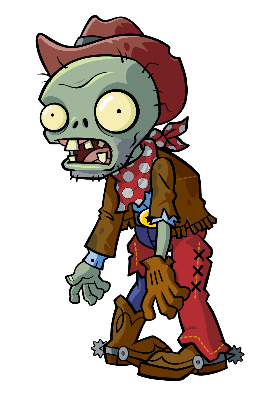 Cowboy clipart zombie  Cowboy Zombie Character