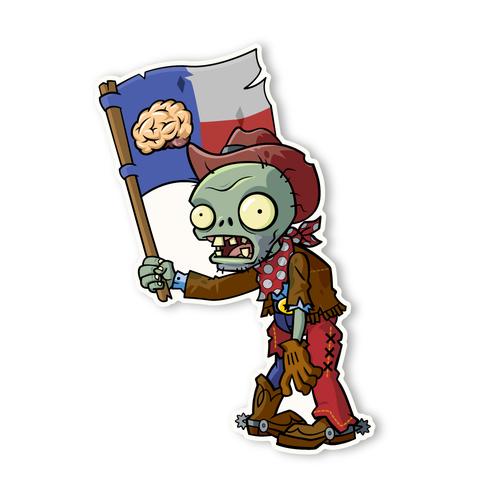 Cowboy clipart zombie 2: Cowboy 1 Flag Plants