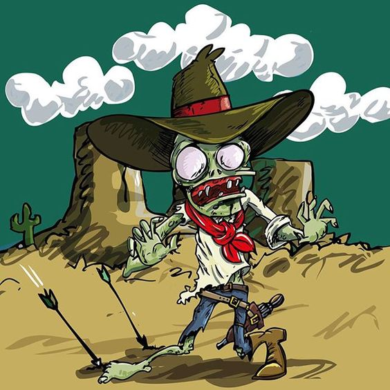 Cowboy clipart zombie Zombie stock 30 month and