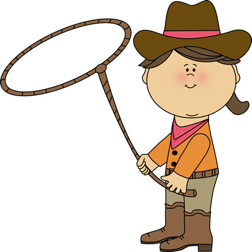 Western clipart lasso Lasso Western Cowgirl with Clip