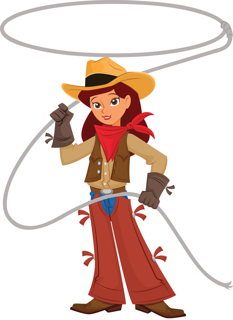 Wild West clipart cartoon Com Art Cowgirl Cowgirl Clip
