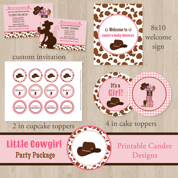Cowgirl clipart baby shower Cowgirl Shower Girl Baby Baby