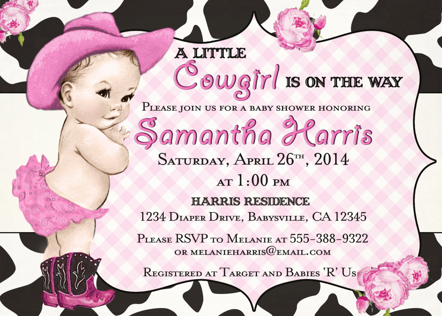 Cowgirl clipart baby shower Which Shower Baby Invitations Be