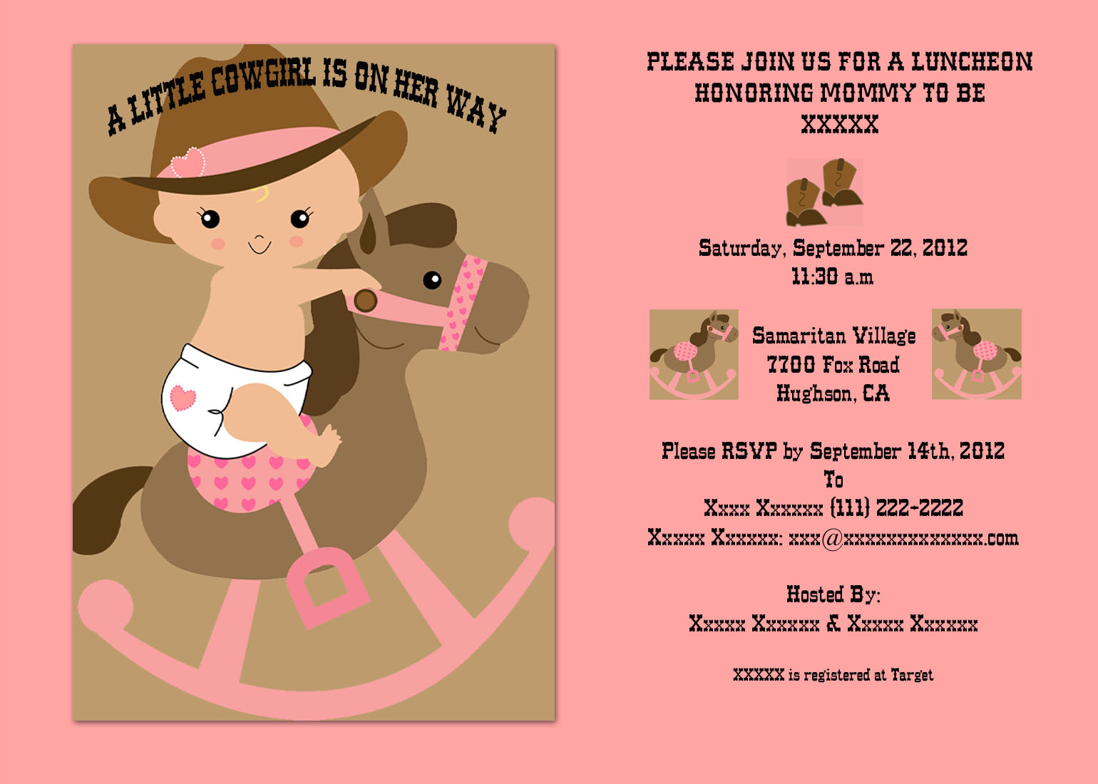 Cowgirl clipart baby shower Theme Baby shower purchased an