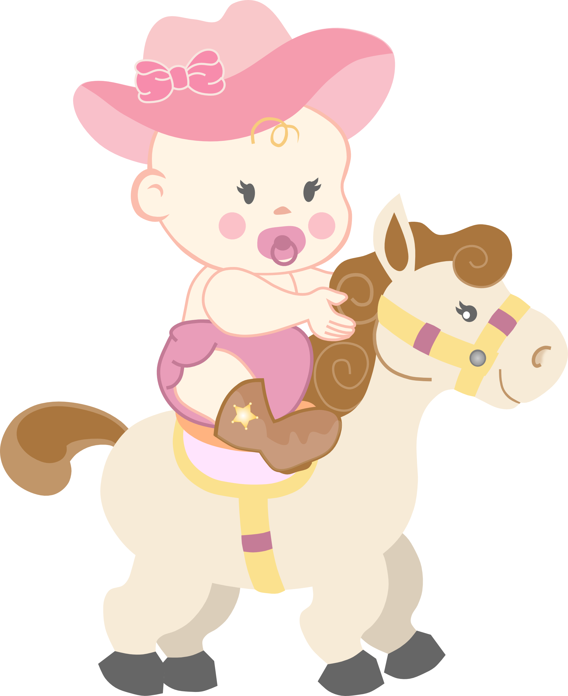 Cowgirl clipart baby shower More Pin Elementos on Google