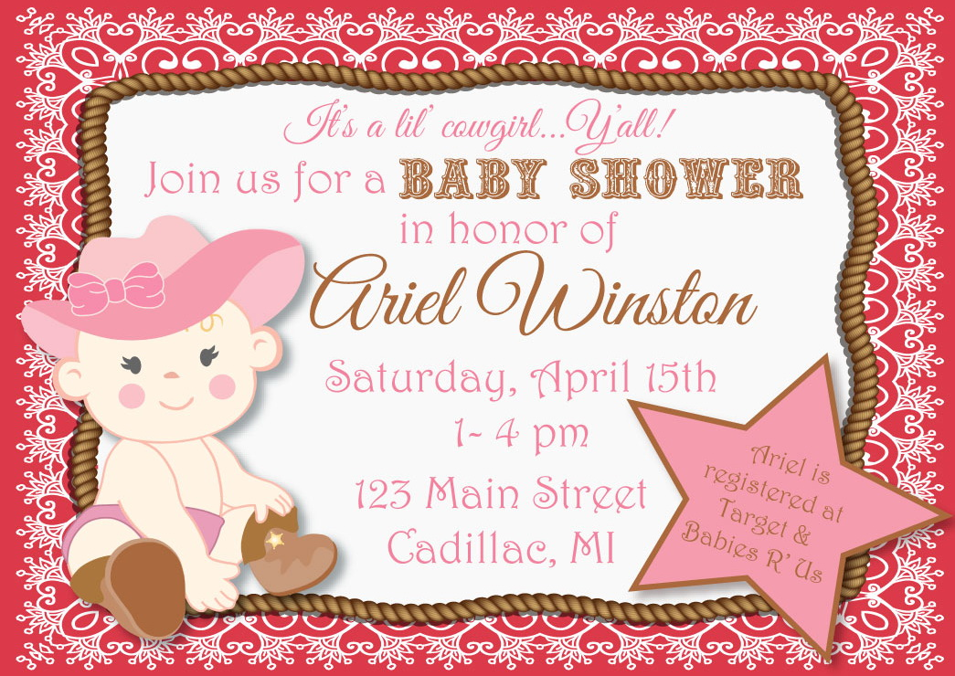 Cowgirl clipart baby shower With shower combination gorgeous Shower