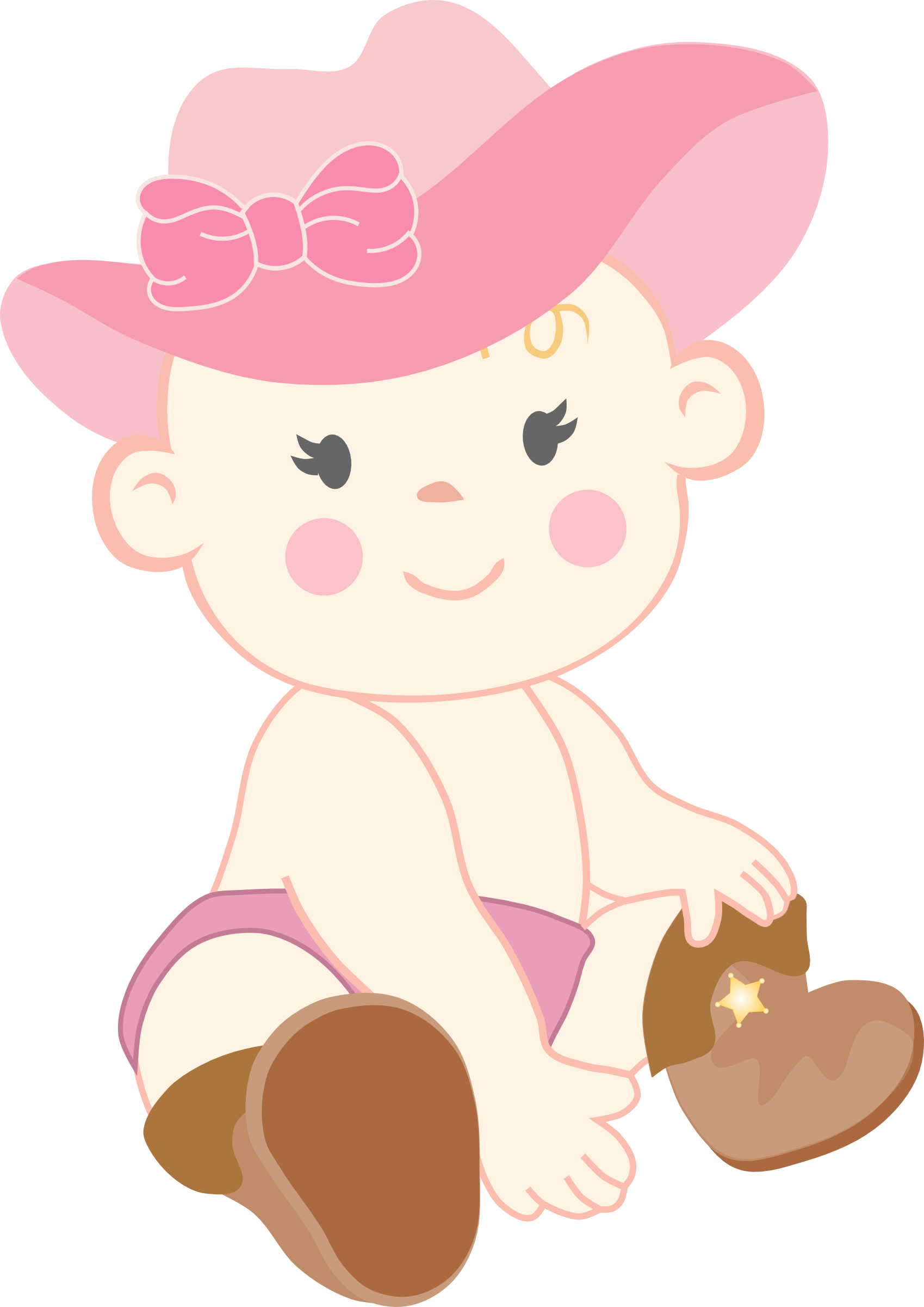Cowgirl clipart baby shower Pinterest Baby Bebé Cowgirl Cowgirl