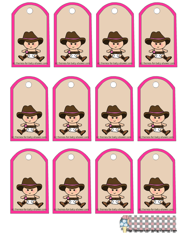 Cowgirl clipart baby shower Baby Cowboy Favor Printable baby