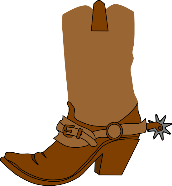 Cowgirl clipart background Clip Cowgirl Cowboy  Boot