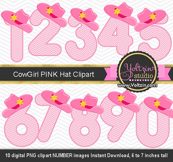 Cowgirl clipart background Numbers digital clear design cowboy