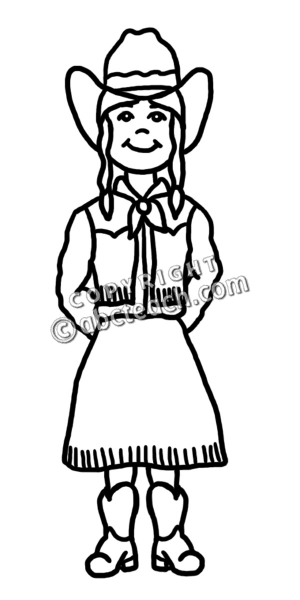 Cowgirl clipart black and white Panda Clipart Art clipart Free