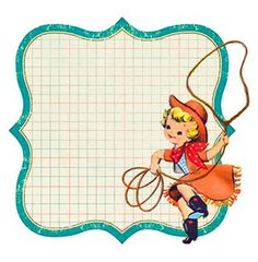 Cowgirl clipart border frame Flickr Advertising Retro and via