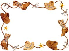 Cowgirl clipart border frame Clip 3 art image Western