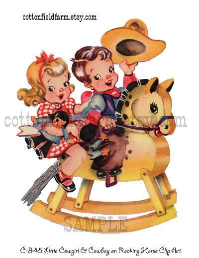 Cowboy clipart vintage cowboy Vintage Cowboy Clipart Cowboy And