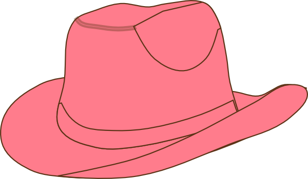 Cowgirl clipart cowgirl hat Clip Art Pink Hat Cowgirl