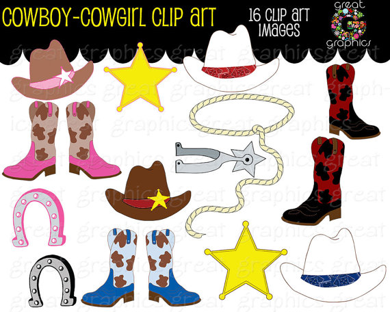 Cowgirl clipart cowgirl hat Pink Il_570xn Cowboy Clipart Cowgirl