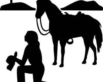 Cowgirl clipart cross Cowgirl Praying cowgirl Horse Prays