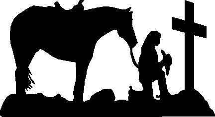 Cowgirl clipart cross Praying and and God Pictures