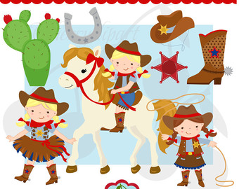 Cowgirl clipart cute Clipart for cowboy and Cute