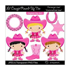 Cowgirl clipart cute UX/UI and well cowgirls Embroidery