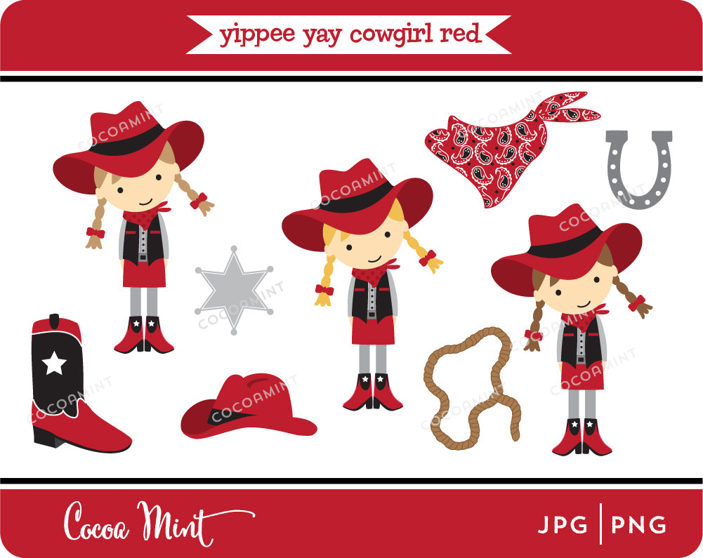 Cowgirl clipart happy birthday Yippee Cowgirl Art Yay Clip