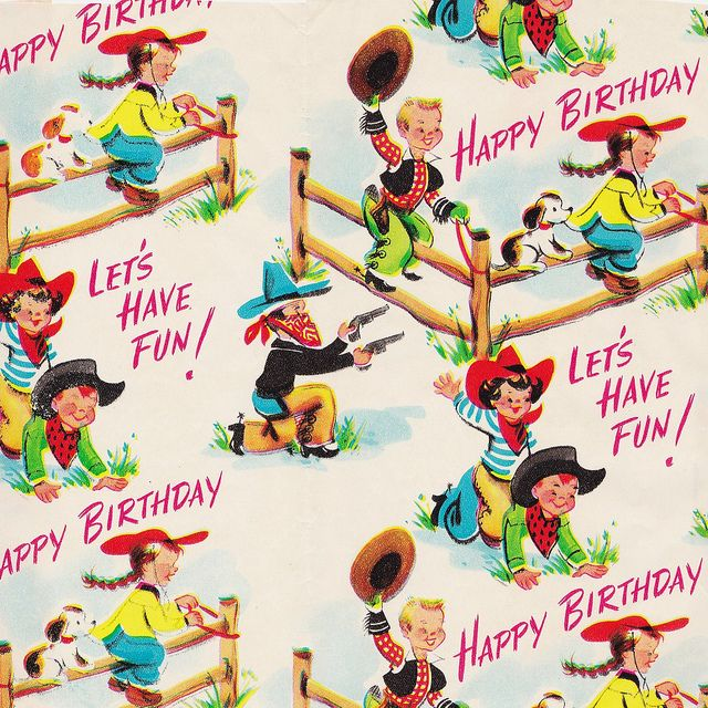 Cowgirl clipart happy birthday Happy by 1950s Wrap Flickr