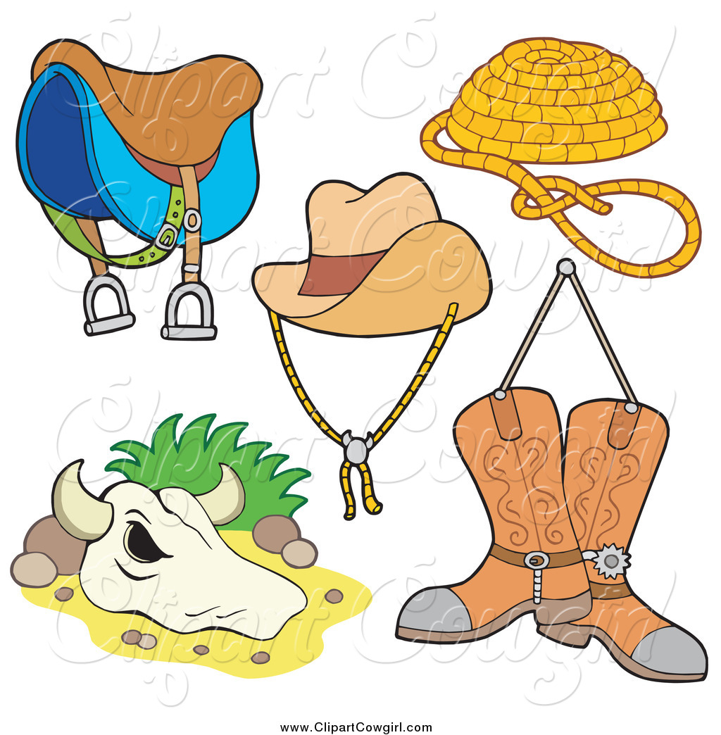 Cowgirl clipart lasso rope And Rope Boots Saddle Hat