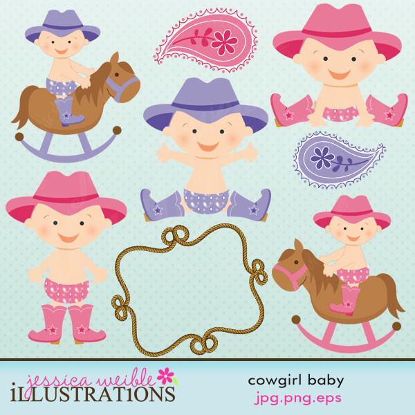 Cowgirl clipart little cowgirl 11 little set clipart with