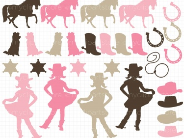 Cowgirl clipart little cowgirl Cowgirl Clipart Silhouettes Clipart Silhouettes